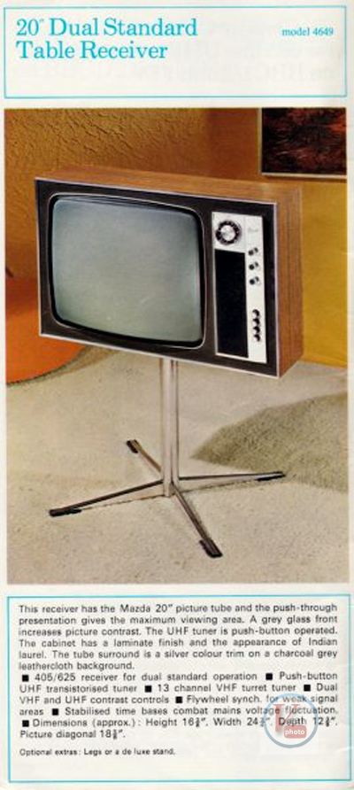 Marconiphone B&W TVs 42