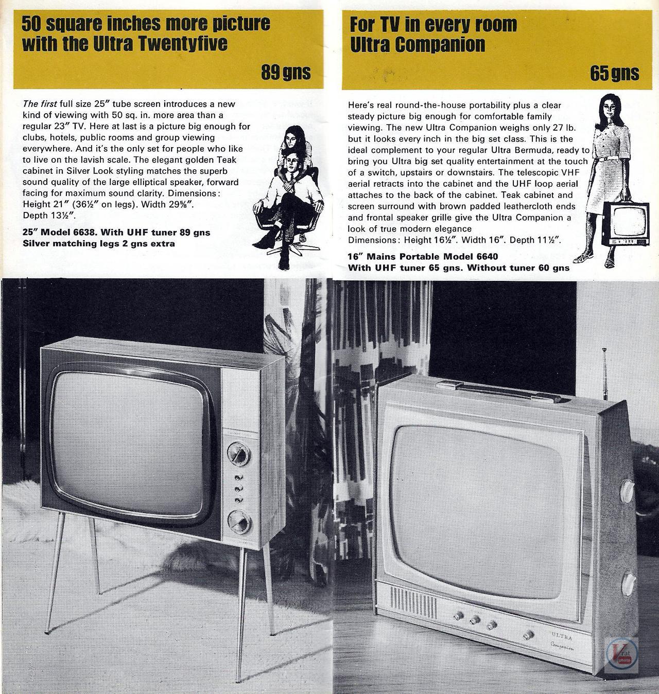Ultra Black & White TV's 4