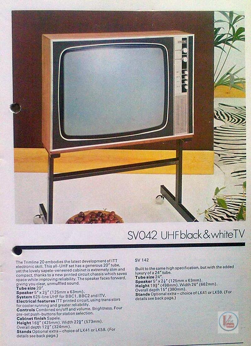 Early 1970's ITT/KB Monochrome Sets 19