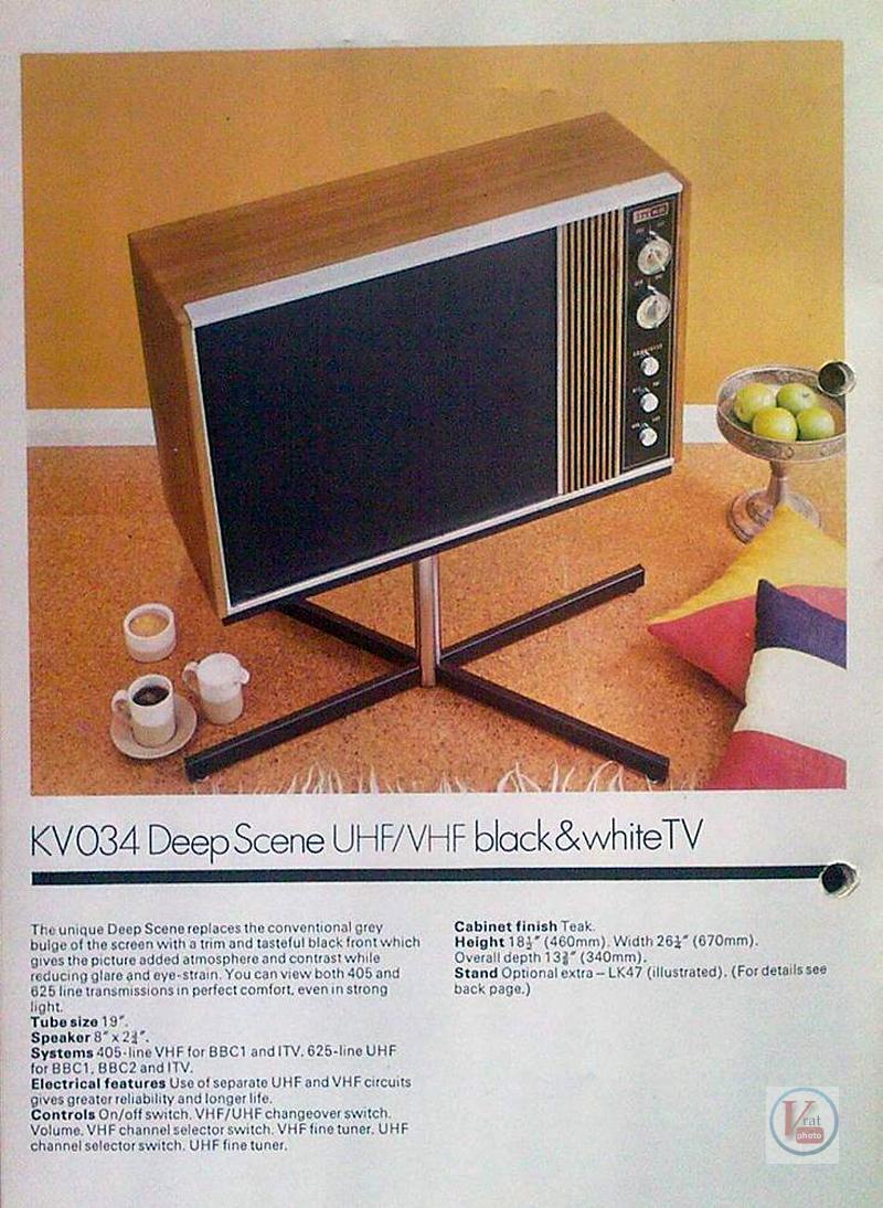 Early 1970's ITT/KB Monochrome Sets 20