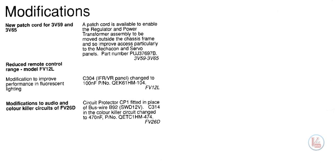 Ferguson VCR: Stock Faults 72