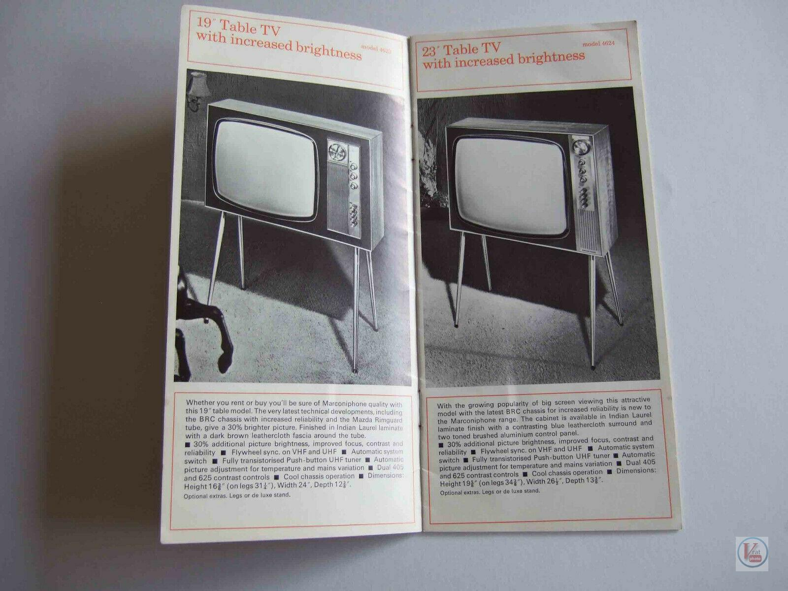 Marconiphone B&W TVs 37