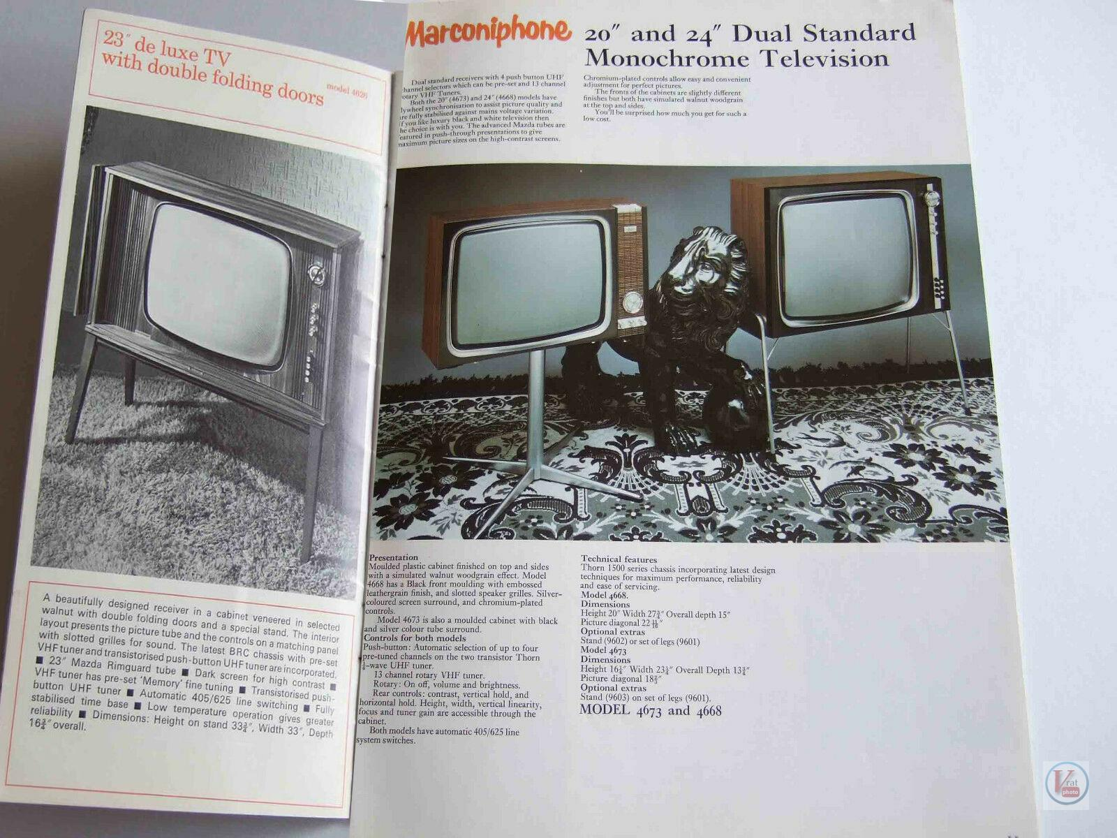 Marconiphone B&W TVs 30