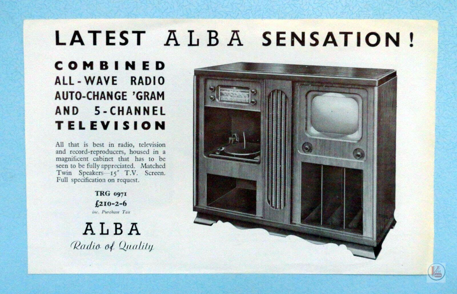 Alba Black & White TV's 4