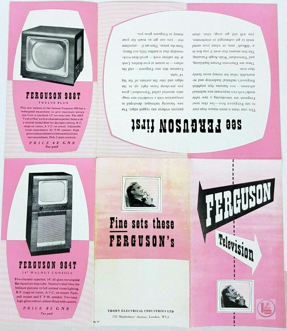 Ferguson B&W TV's 66