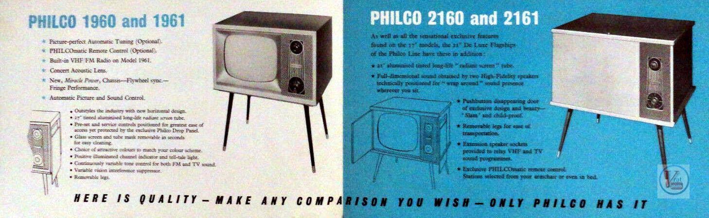Philco Black & White TV's 14