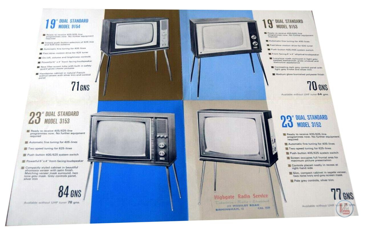Late 60's Early 1970's Philips Monochrome Sets 4