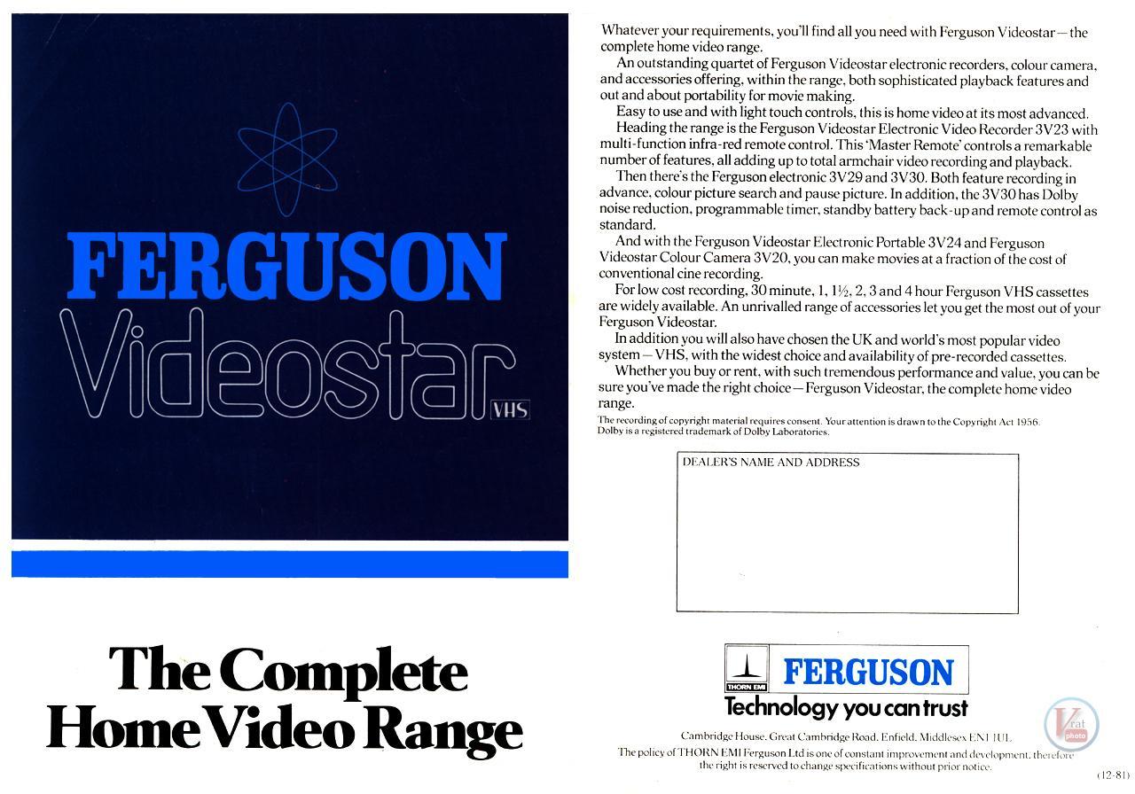 Early 1980s Ferguson Video Recorders 1