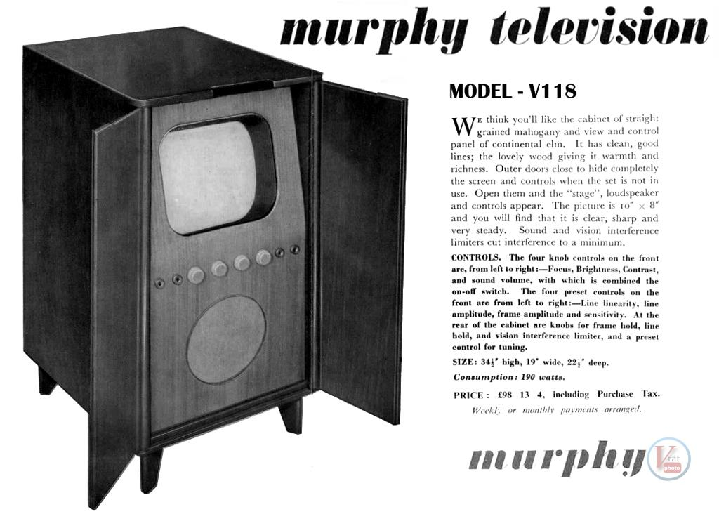 1930's 1940's 405 Televisions 33