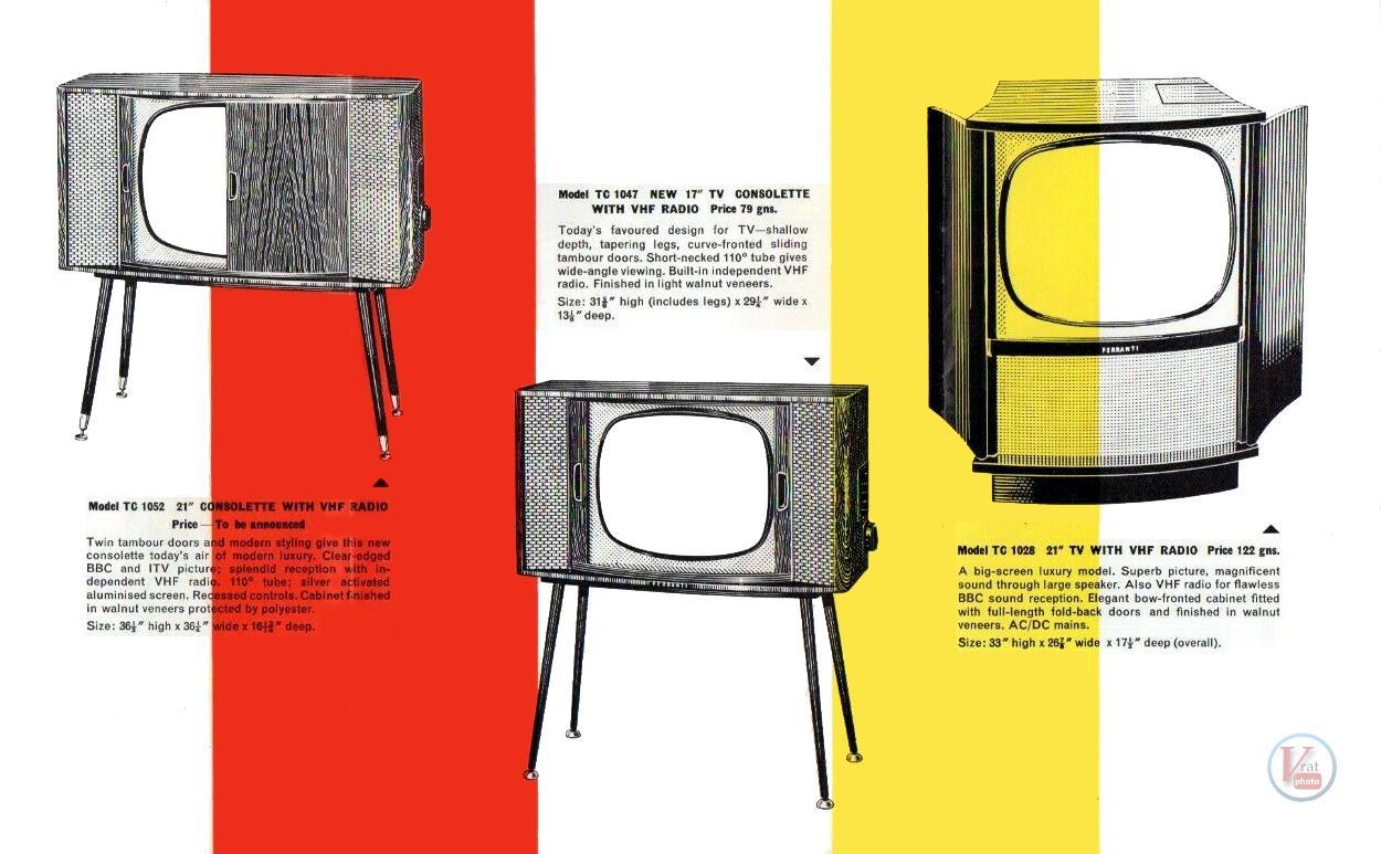 Ferranti B&W TV's 20