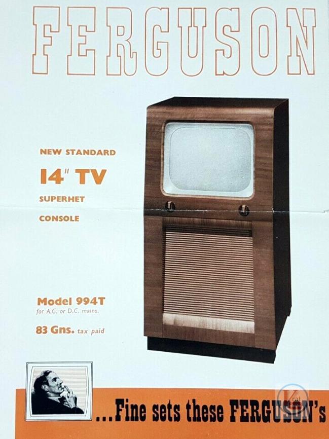 Ferguson B&W TV's 58