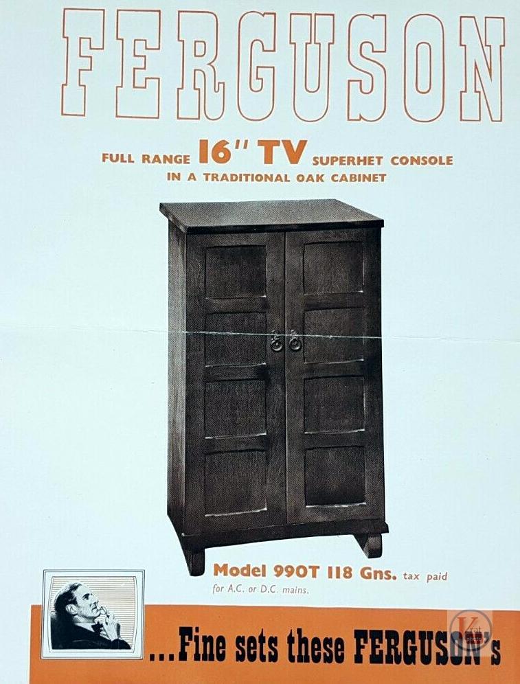 Ferguson B&W TV's 60