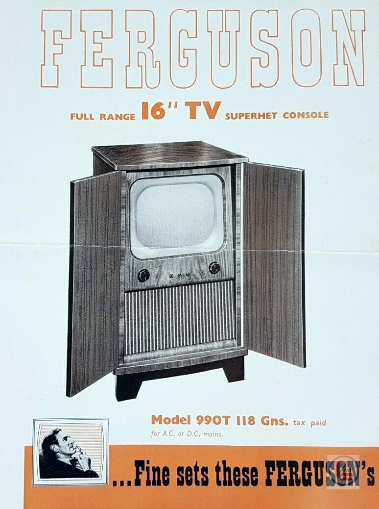 Ferguson B&W TV's 62