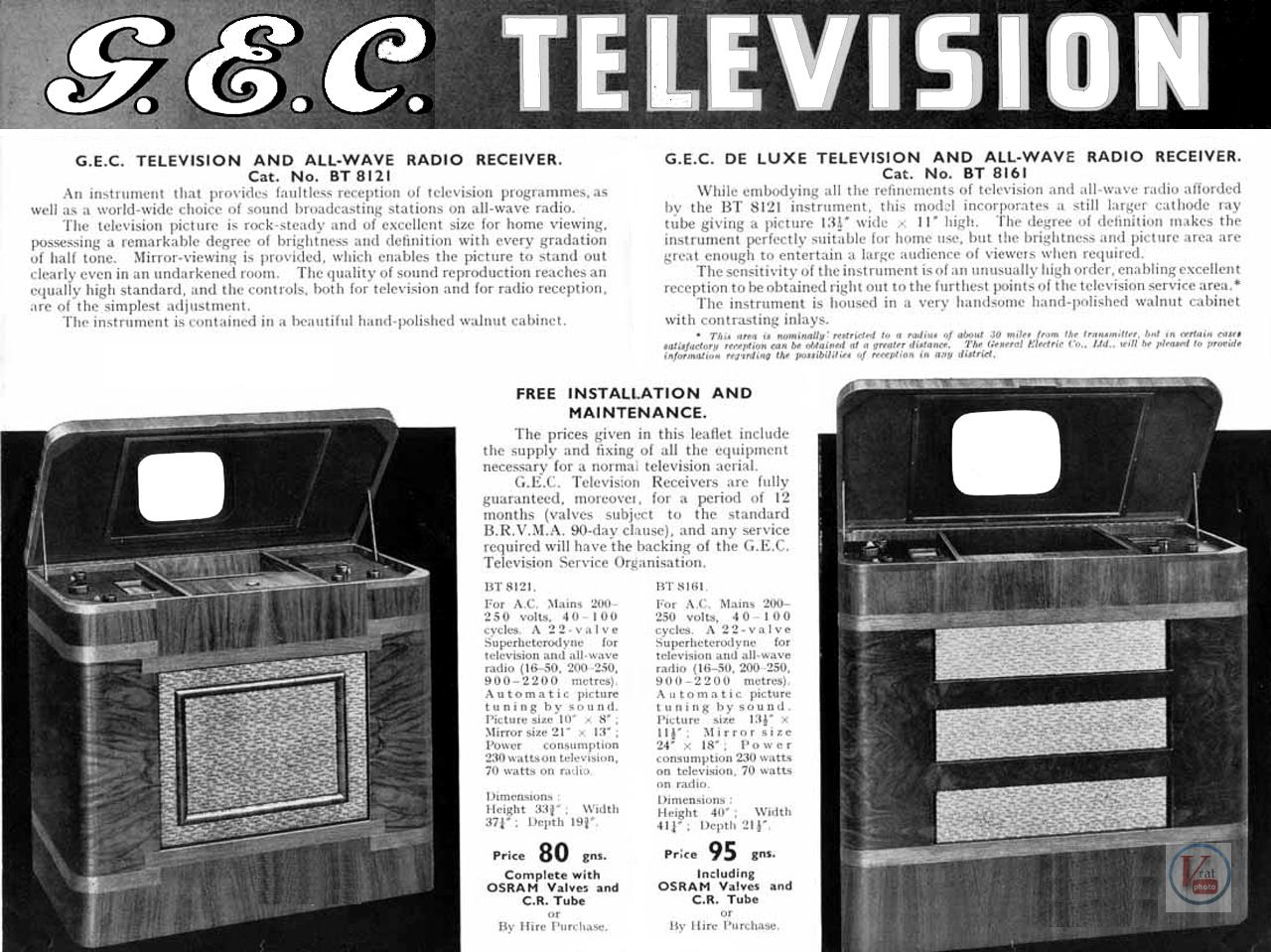 1930's 1940's 405 Televisions 26
