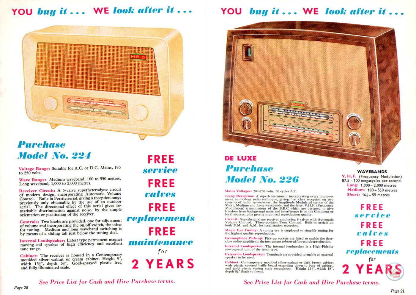 1957 Radio Rentals Catalogue 60