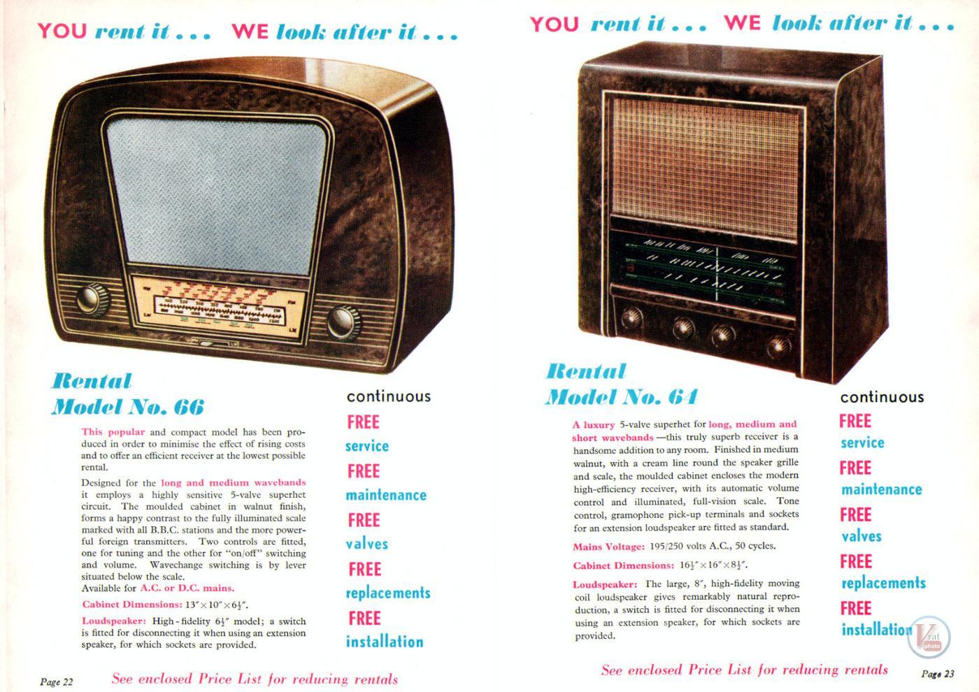 1957 Radio Rentals Catalogue 61