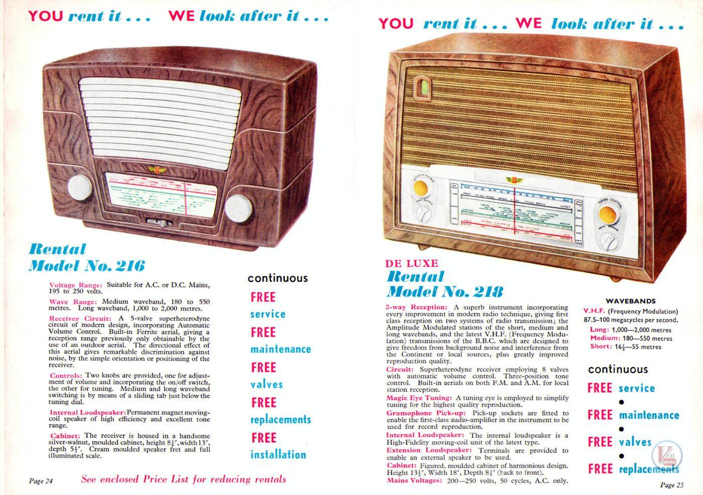1957 Radio Rentals Catalogue 62