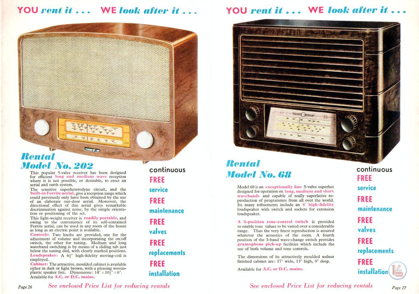 1957 Radio Rentals Catalogue 63