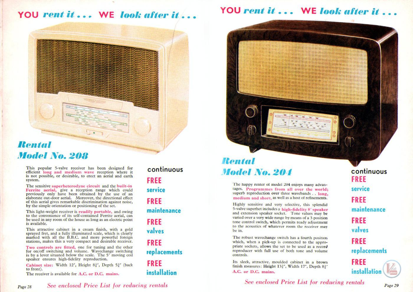 1957 Radio Rentals Catalogue 89