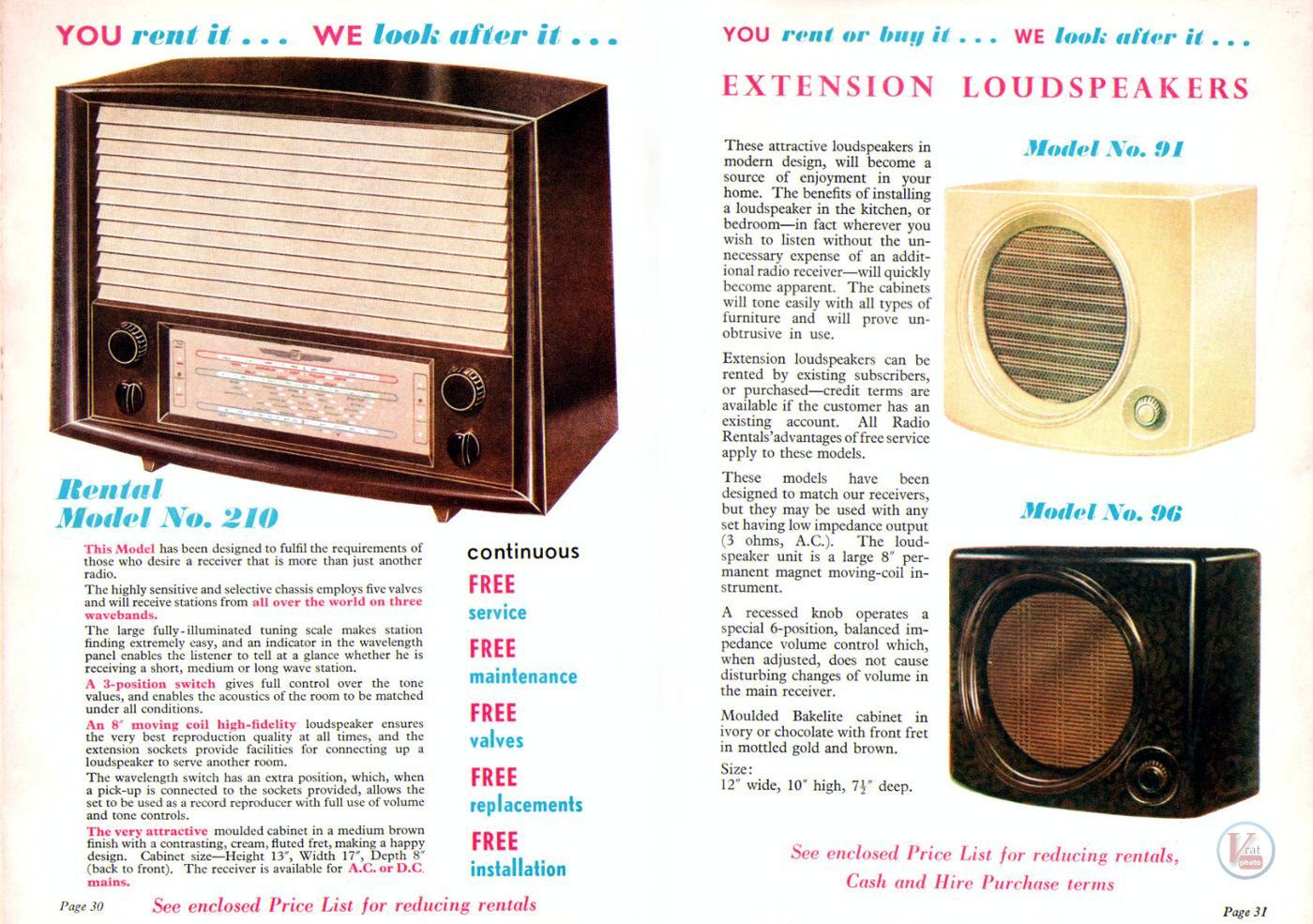 1957 Radio Rentals Catalogue 90
