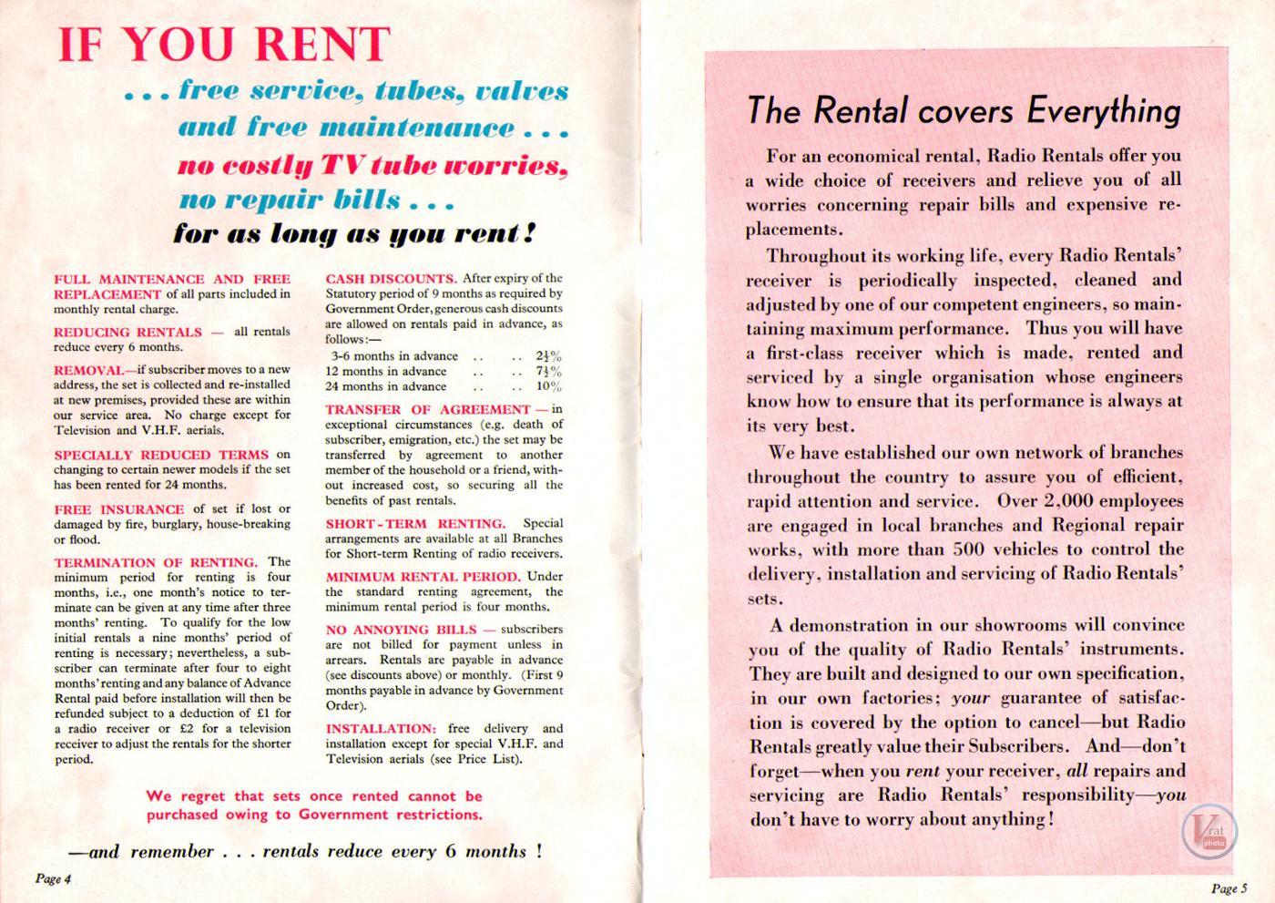 1957 Radio Rentals Catalogue 78