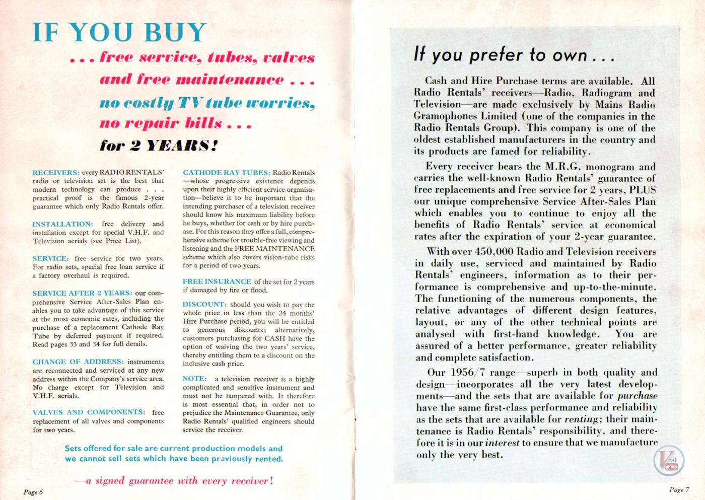 1957 Radio Rentals Catalogue 54