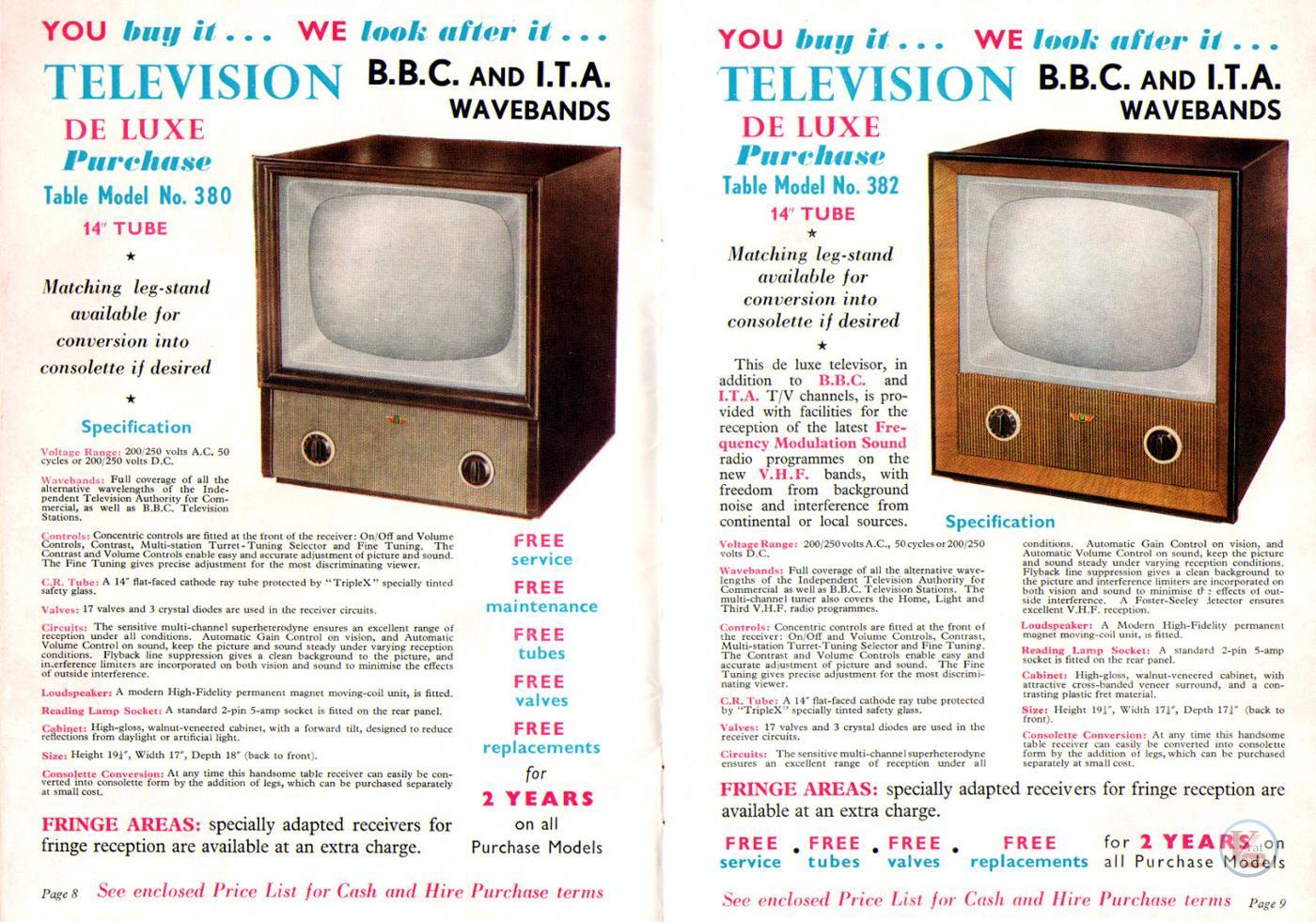 1957 Radio Rentals Catalogue 55