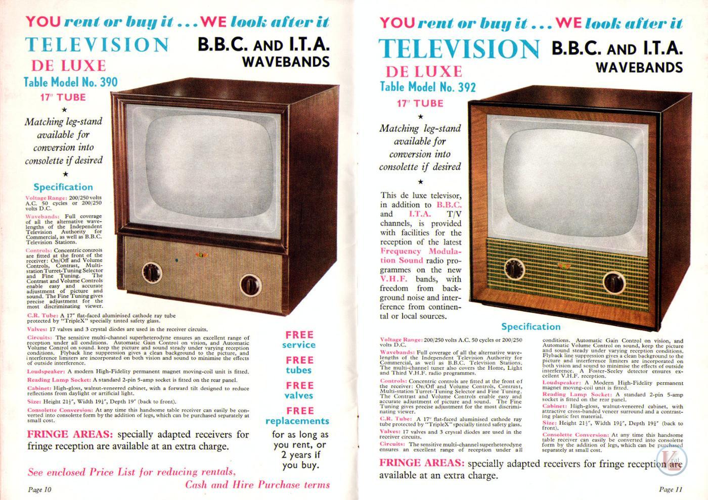 1957 Radio Rentals Catalogue 56