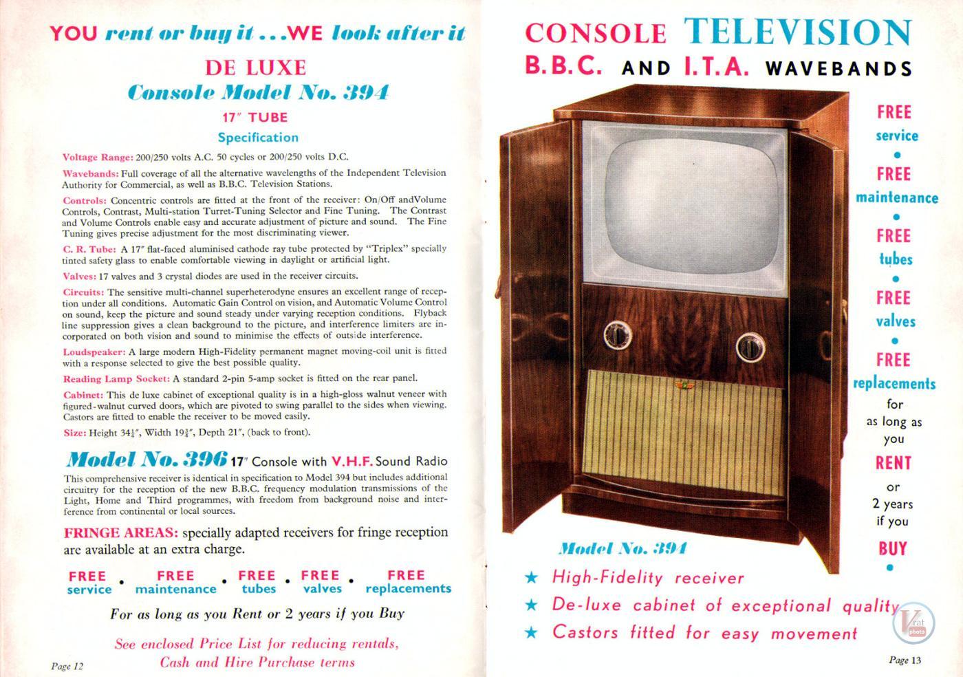 1957 Radio Rentals Catalogue 57