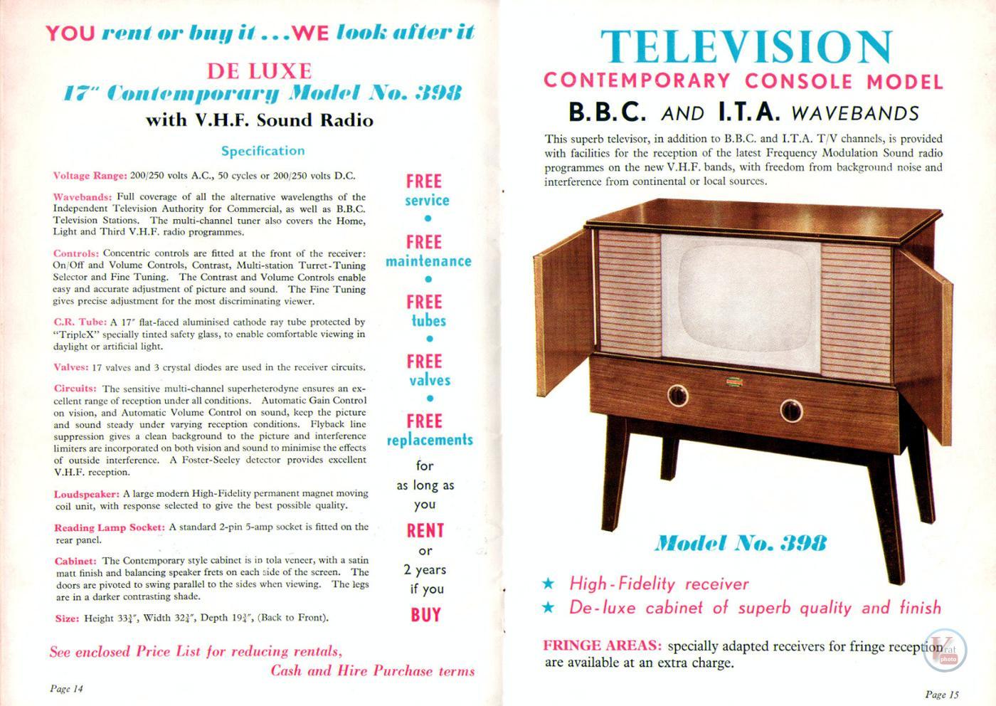 1957 Radio Rentals Catalogue 58