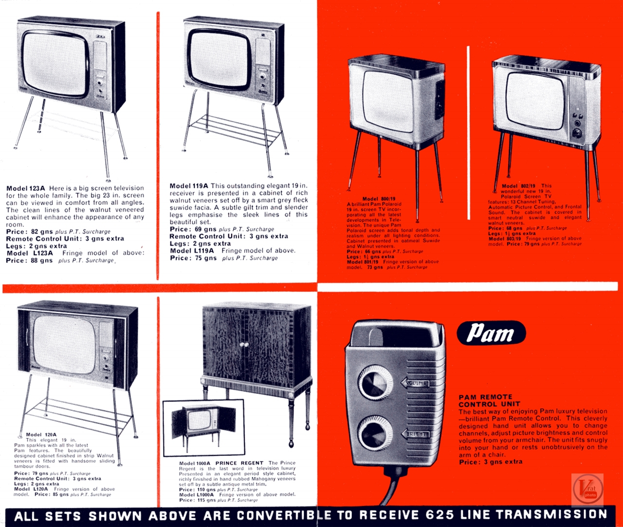 PAM B&W TV's 3