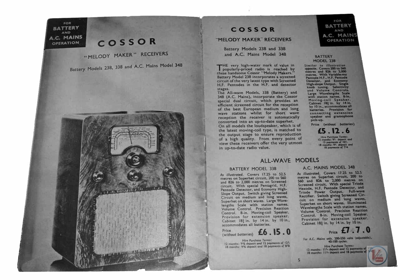 Cossor Radio 22