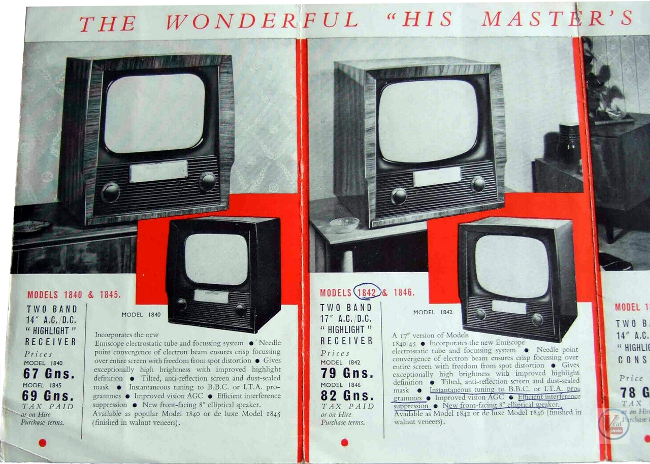 HMV B&W TV's 62