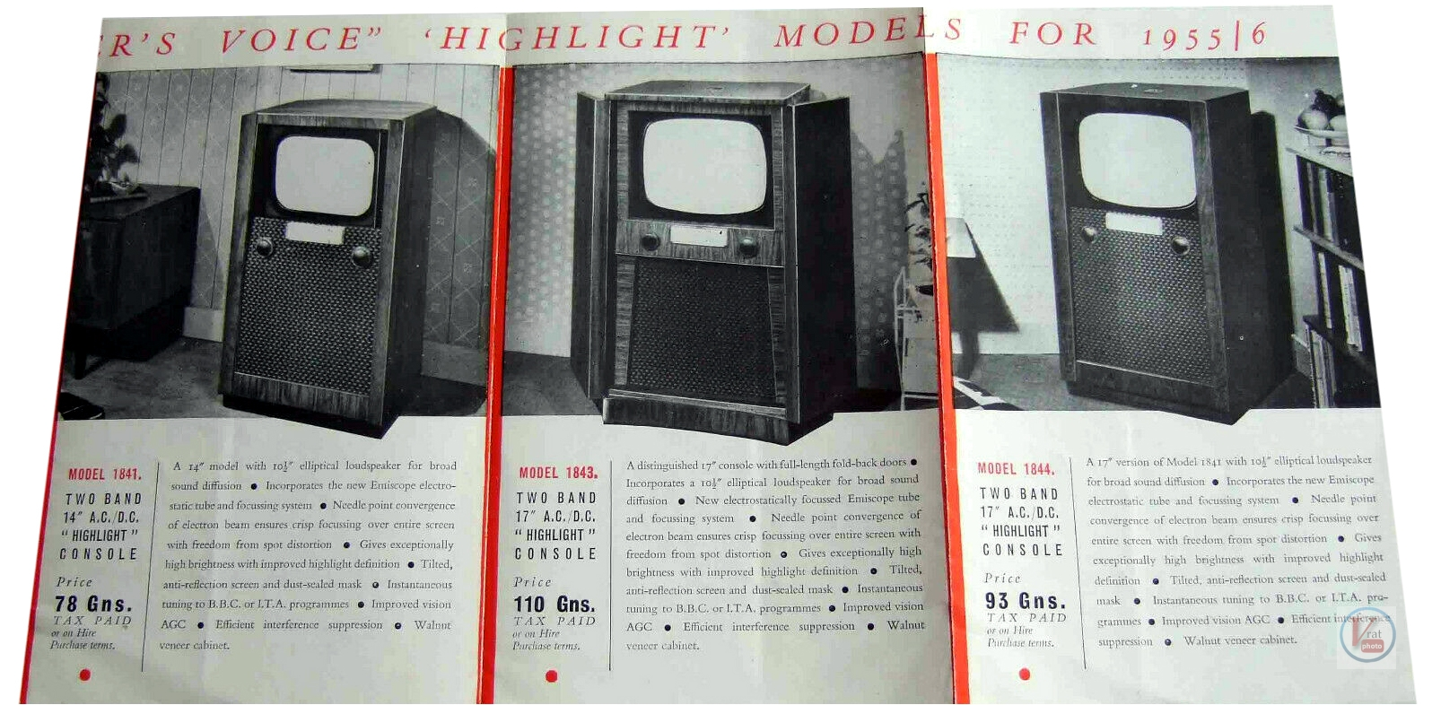 HMV B&W TV's 63