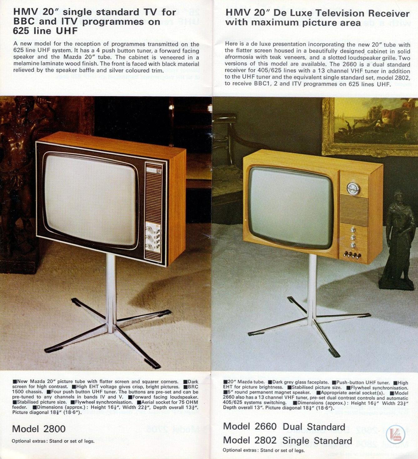 HMV B&W TV's 74