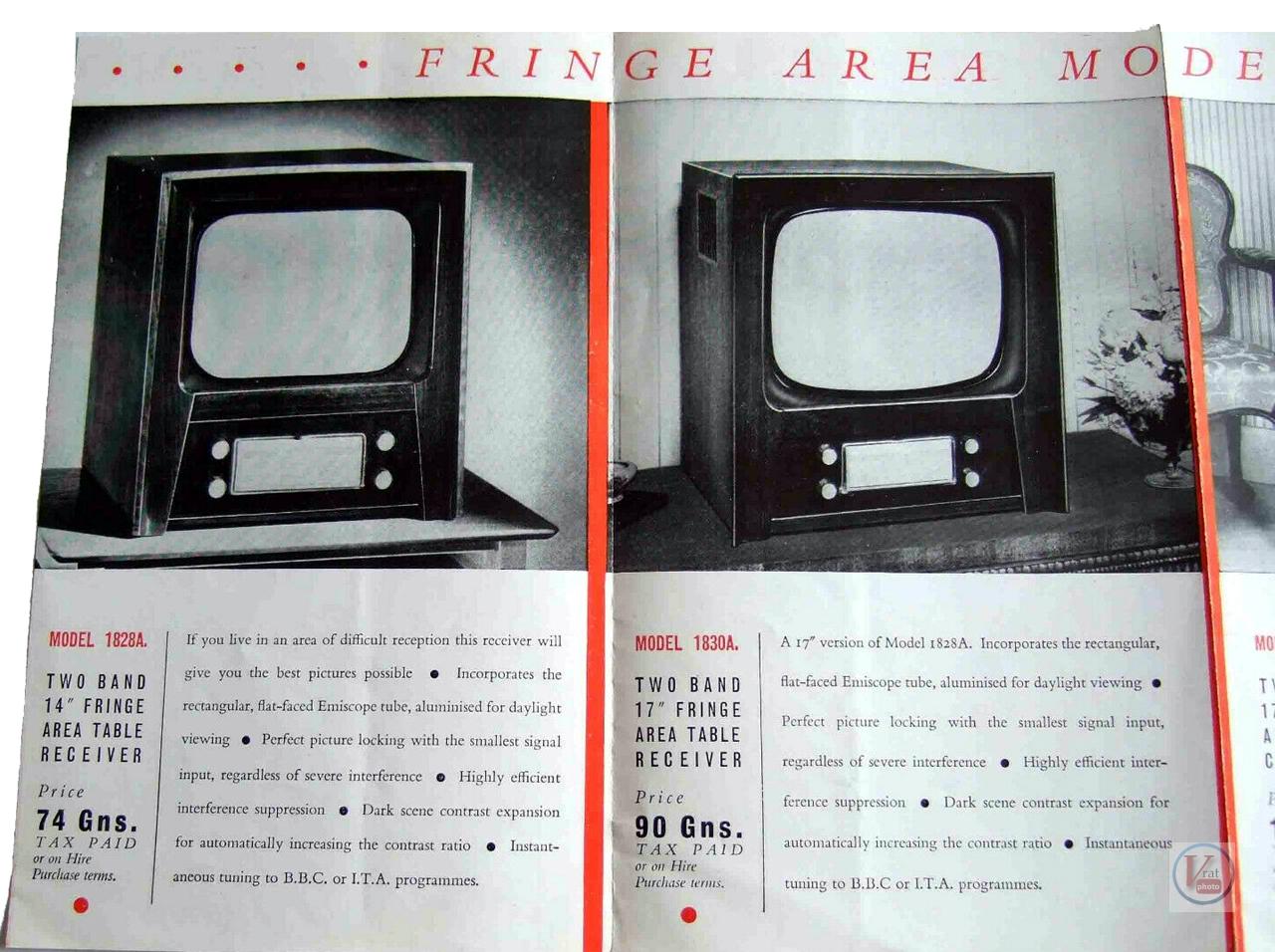 HMV B&W TV's 64