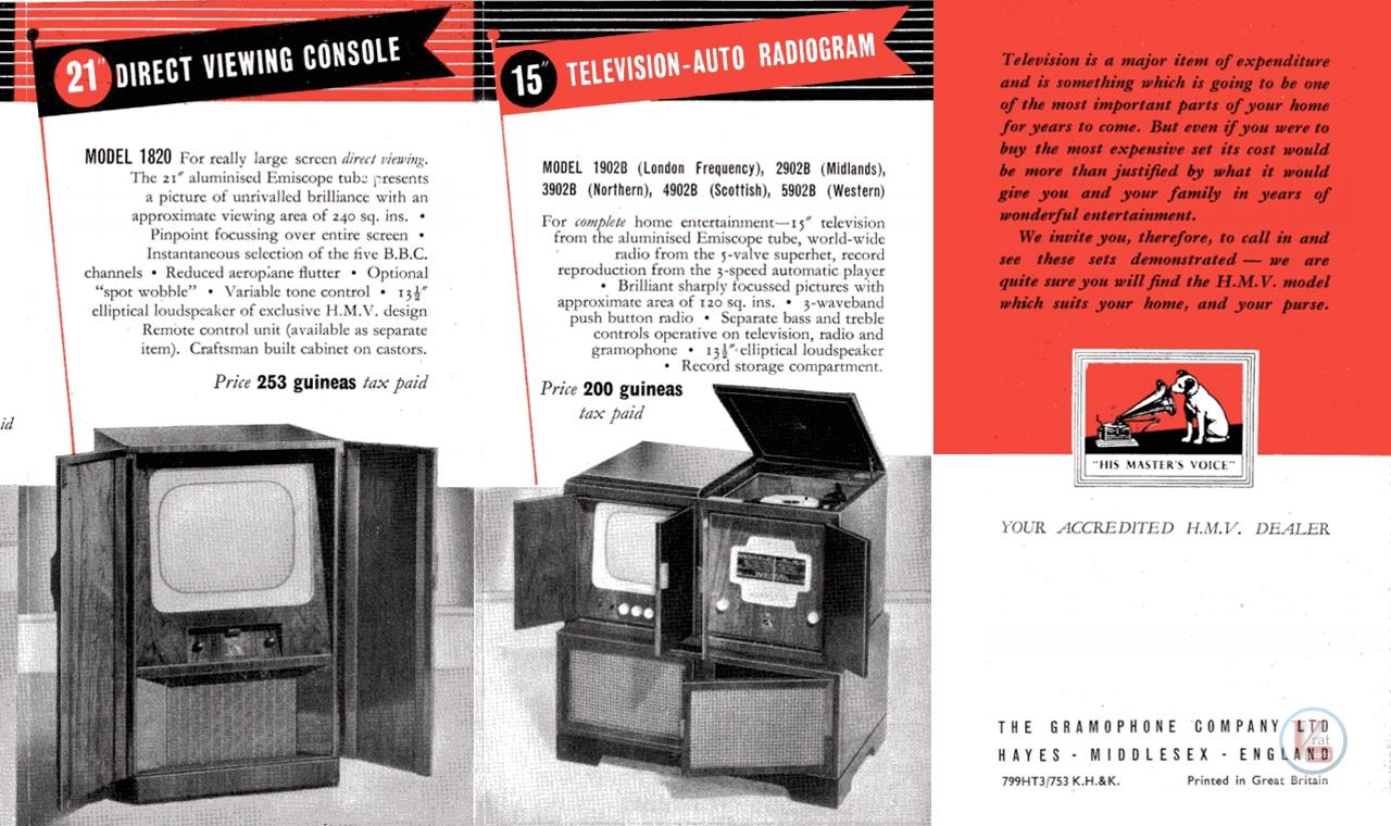 HMV B&W TV's 61