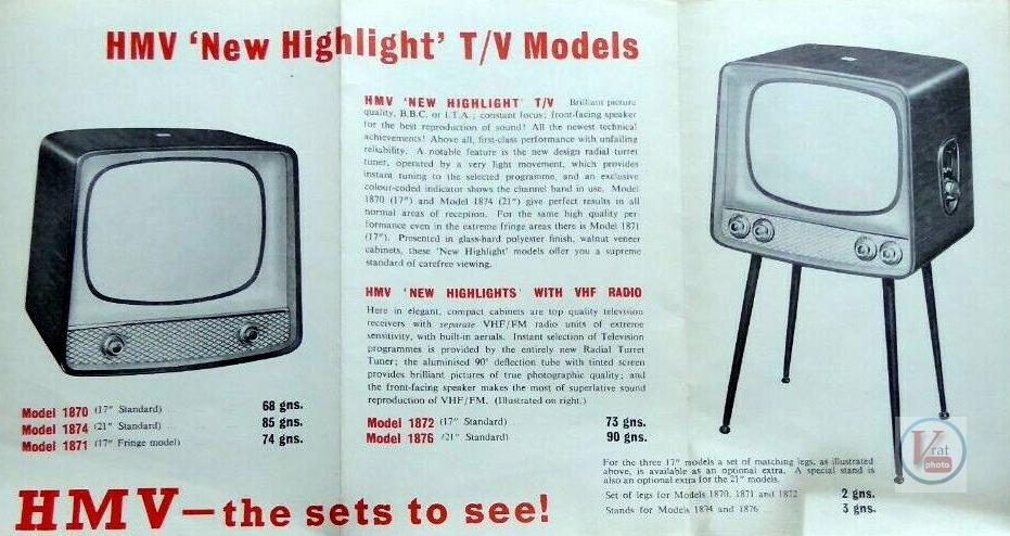 HMV B&W TV's 66