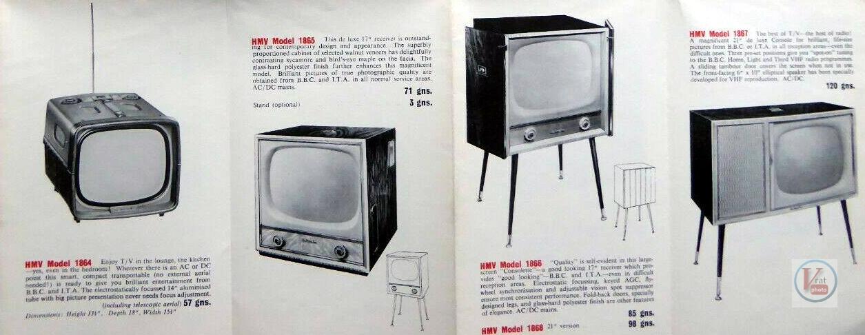 HMV B&W TV's 67