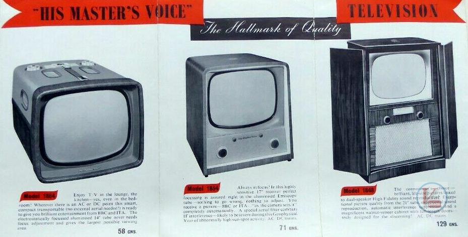 HMV B&W TV's 68