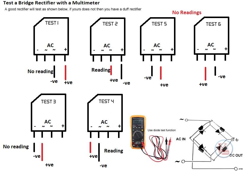 Test a Bridge Rectifier 1