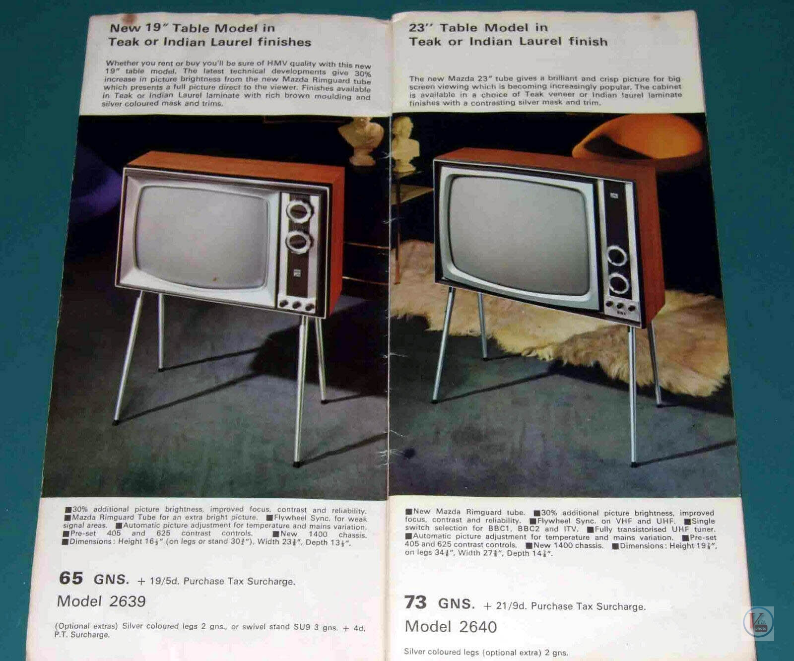 HMV B&W TV's 77