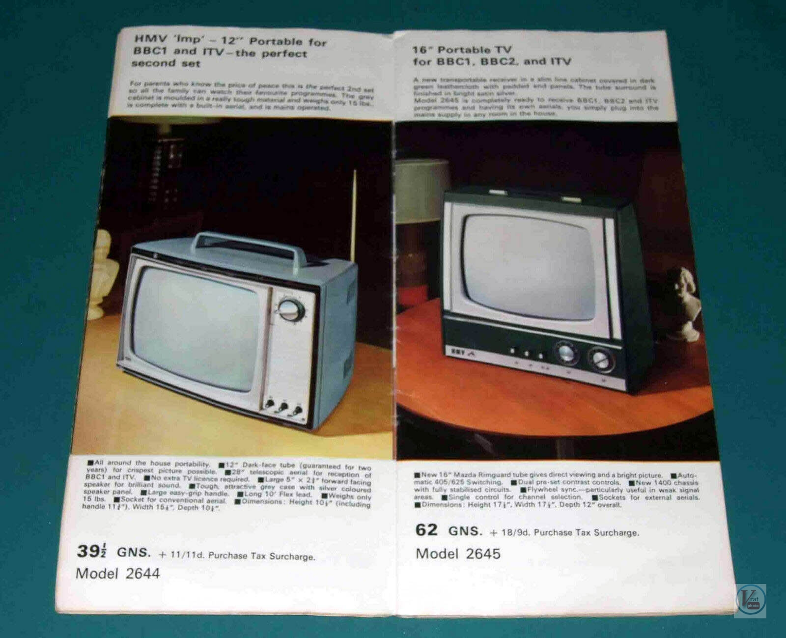 HMV B&W TV's 78