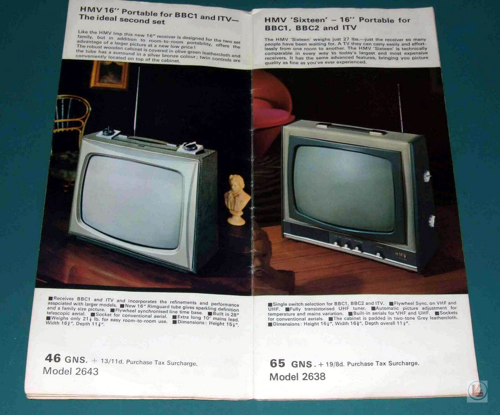 HMV B&W TV's 80
