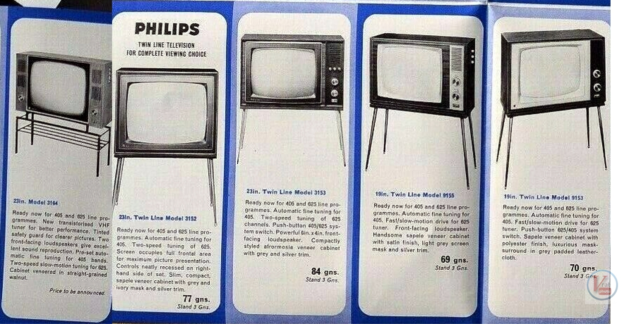 Late 60's Early 1970's Philips Monochrome Sets 2