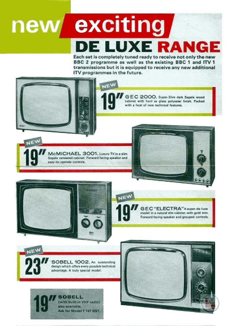 Early 1970's GEC Monochrome  sets 1