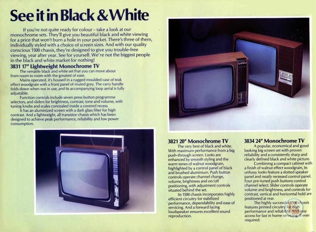 Ferguson B&W TV's 72