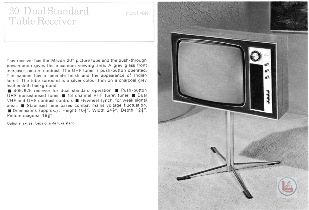 Marconiphone B&W TVs 27