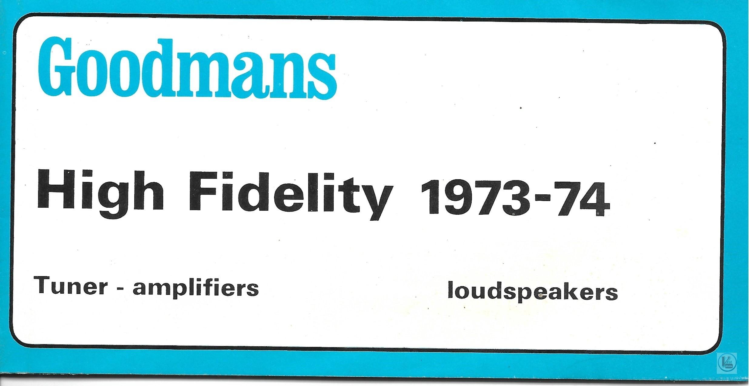 Goodmans 1973-1974 49