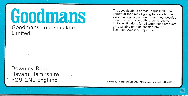 Goodmans 1973-1974 64